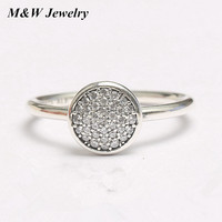 M W New Round Cut AAA CZ 925 Sterling Silver Halo Wedding Ring Sets Engagement Band