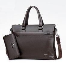 hot deal buy men briefcases pole business handbag quality pu formal work bags  large capacity handbags male crossbody messenger handbags