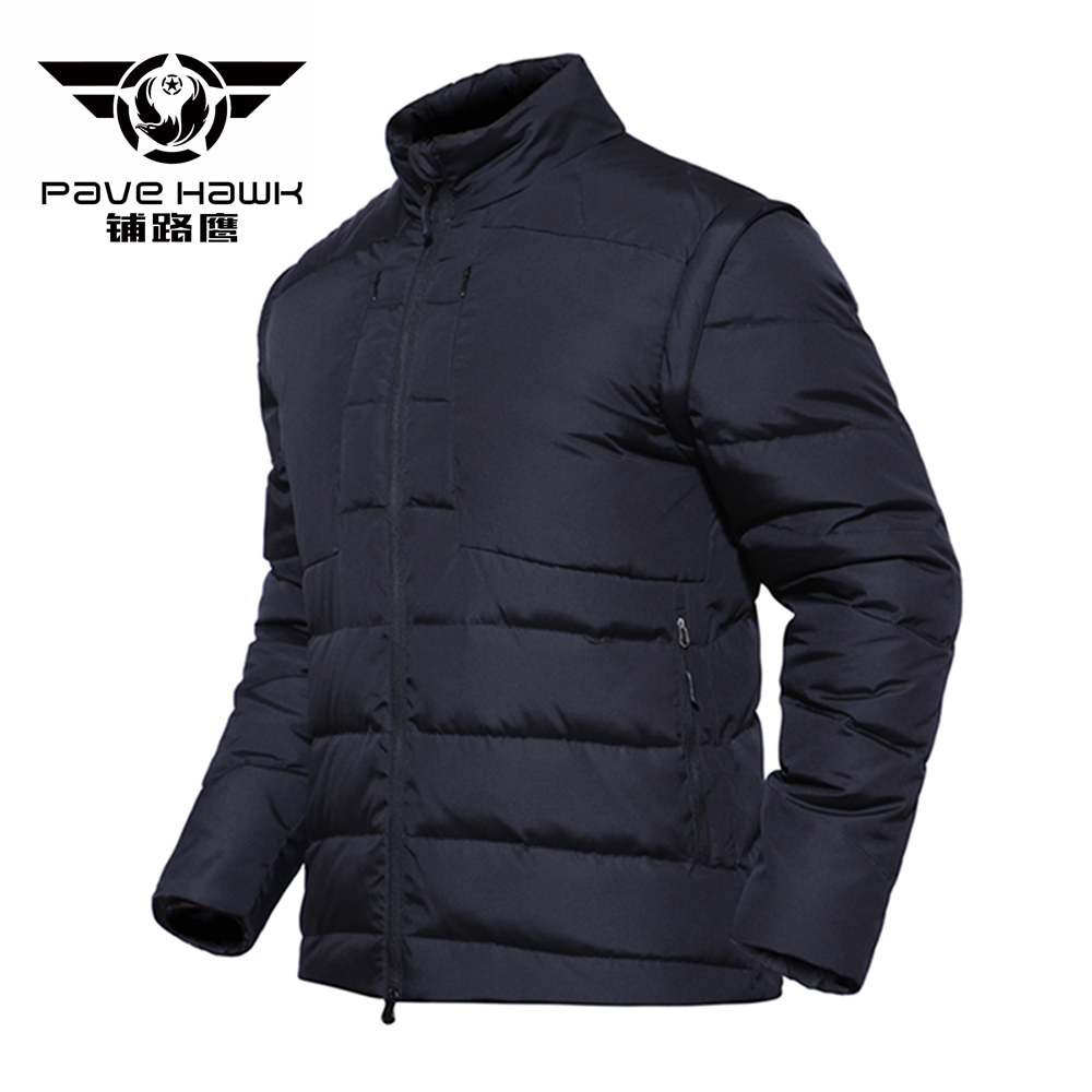 White Duck   Down     Coat   Men Sleeves Detachable Winter Jacket Ultralight   Down   Jacket Casual Outerwear Military Snow Warm   Coat   Parkas