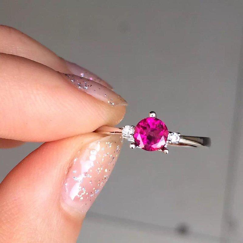купить Anillos Qi Xuan_Trendy Jewelry_Tourmaline Stone Elegant Woman Rings_S925 Solid Sliver Fashion Rings_Manufacturer Directly Sales онлайн