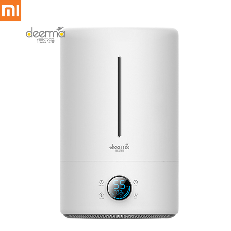 Nouveau Xiaomi YOUPIN Deerma 5L humidificateur d'air Version tactile LED UV à humidité constante intelligente 12 H synchronisation purificateur d'air silencieux pour l'air