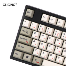 Russian Korean Japanese PBT Keycap OEM Profile Dye Sub Thermal Sublimation for Cherry MX Mechanical Keyboard Key Cap Switch(China)