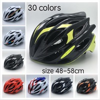 Integrally Molded Cycling Helmet Super Light 230g Mtb Adults Bicycle Accessories EPS PC Adjustable Size 48