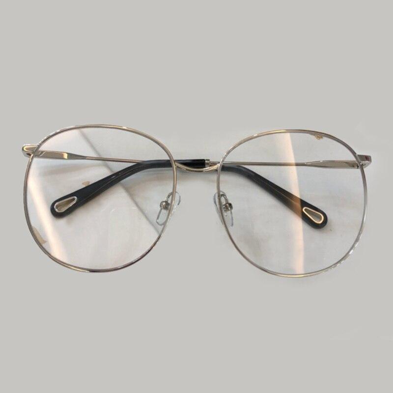 Für no3 Frame Rahmen Fall Runde Gassses Brille Eyeweare Verpackung no2 Rezept Frauen Vintage Frame Frame 2019 Legierung Mit Neue No1 Brillen qpEHCww