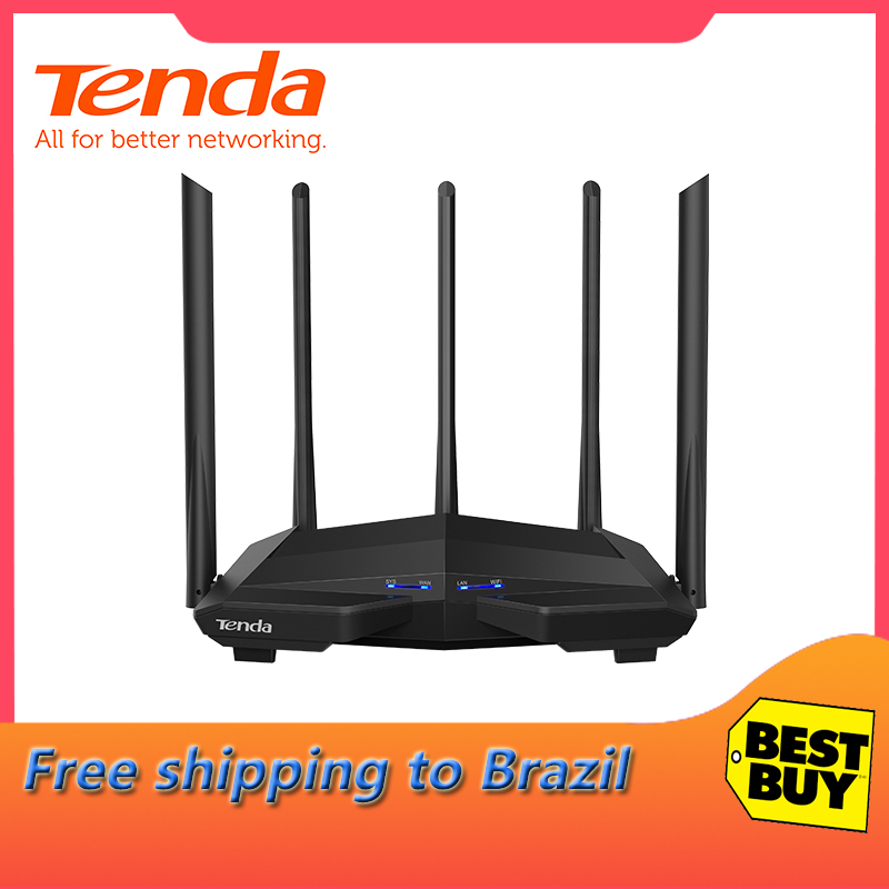 Tenda AC11 AC1200M Wireless WiFi Router with 2.4G/5.0G High Gain Antenna Home Coverage Dual Band Wireless Router,App ControlTenda AC11 AC1200M Wireless WiFi Router with 2.4G/5.0G High Gain Antenna Home Coverage Dual Band Wireless Router,App Control