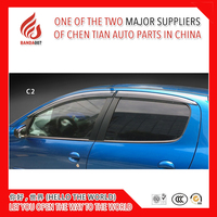 4 Piece Injection molding trim vent shade rain sun wind deflector window visor for Chevrolet C2 C3 XR C4L C5