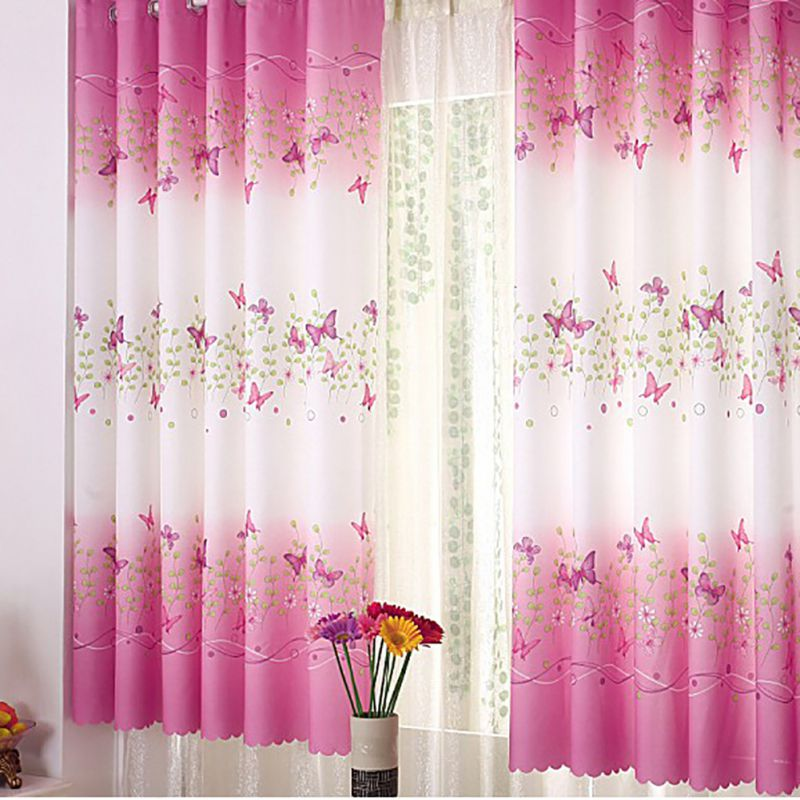 200cm x 95 cm Curtain Floral Panel Curtain For Bedroom Balcony Room Divider Modern Home Decor New