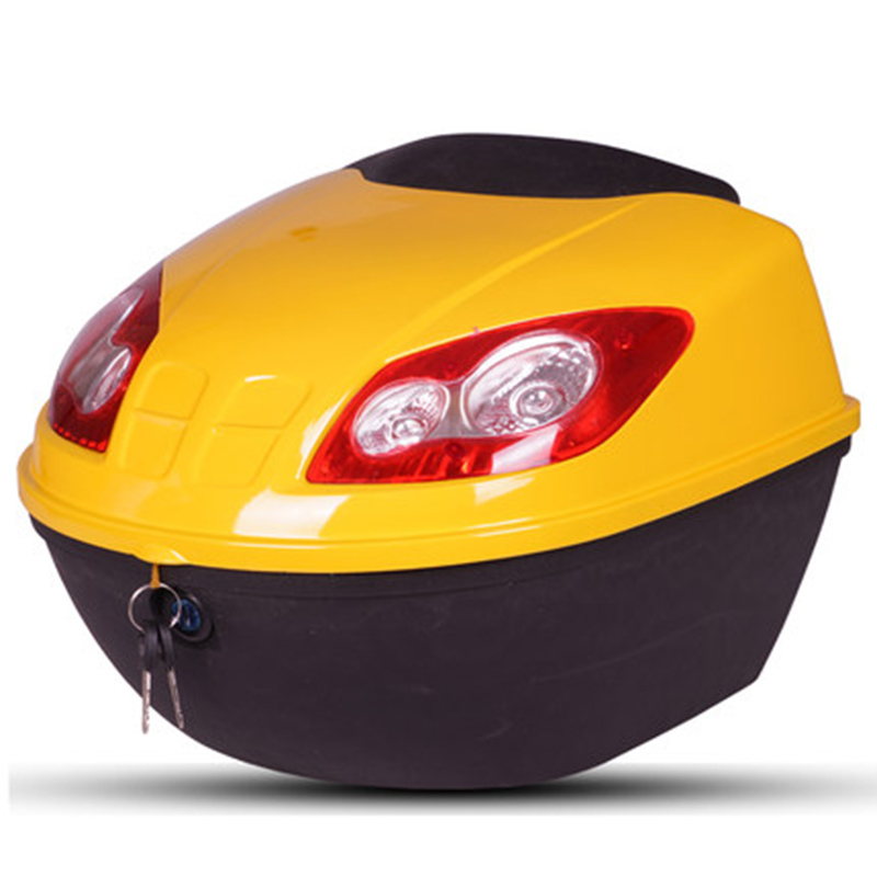 Motorcycle trunk Electric vehicle tailbox Universal tailbox Thickening and anti shake Storage box Scooter Toolbox