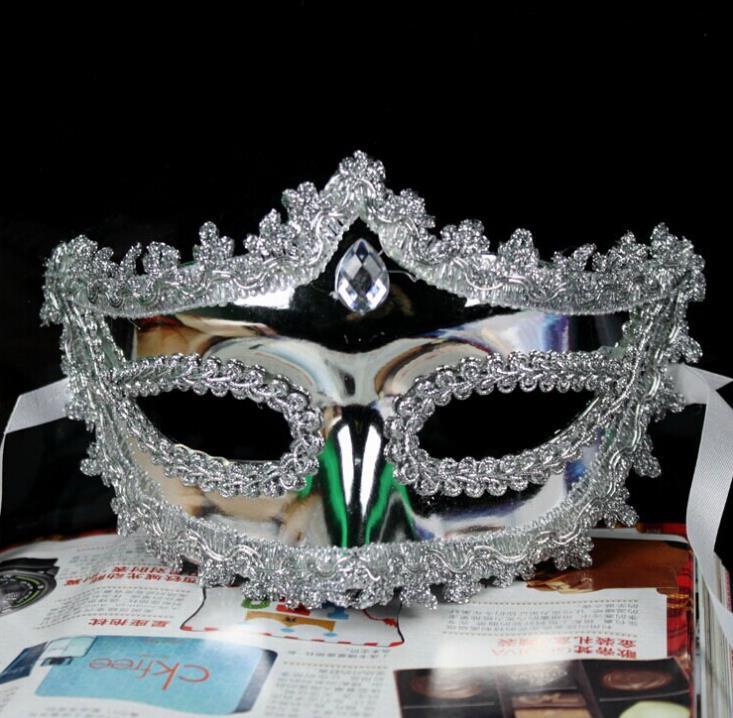 100 unidades de Halloween corona brillante medios cara mascarada mscara de rendimiento