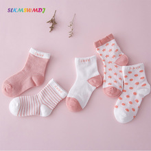 SLKMSWMDJ Spring and Summer network comfortable thin baby cotton socks boys girls striped socks S M L for 0-6 years 5 pairs slkmswmdj 1 pairs spring autumn cotton cartoon baby toddler socks unisex children s non slip floor socks xs s m for 0 30 months