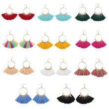 2018 Fashion Jewelry Bohemian Long Tassel Earrings for Women Big Circle Dangle Earrings Female Wedding Pendientes Gift