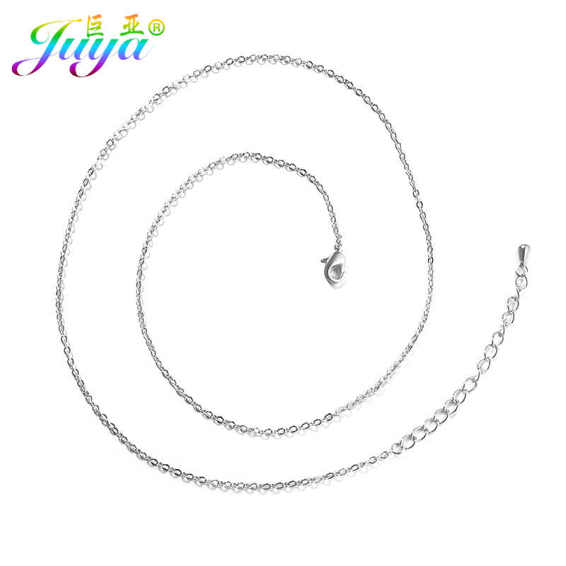 DIY Pendant Necklace Findings Supplies Women Fashion Gold Link Chains Fashion Pendant Necklace DIY Making Christmas Gifts