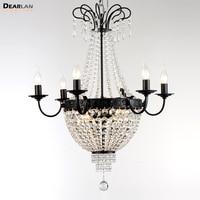 9 luzes de Cristal Lustre Império Francês Lustre de Cristal Pendurado Luminária Suspensão Suspensão Lâmpada de Sala de Estar da Sala de Jantar