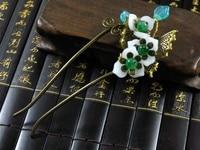 Qiumian Autumn Sleep Original Vintage Antique Bronze U Shape Hair Stick Vintage Hanfu Hair Accessory Hair
