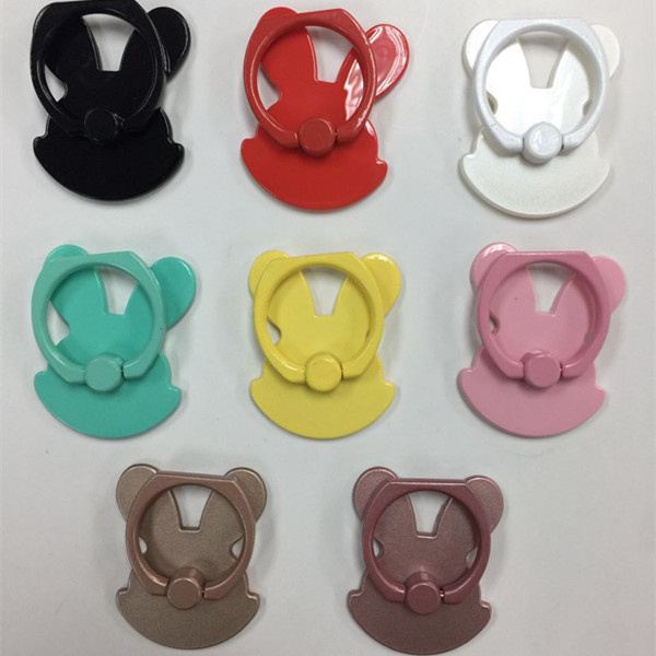 For iPhone Sumsang Rabbit Pattern Phone Ring Holder for Mobile Phones 360 Degree Rotate Kick Stand Finger Grip