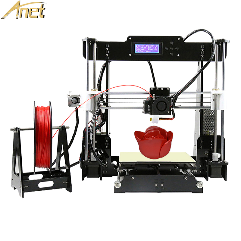Анет A6 A8/auto level A8 3D-принтеры самостоятельной сборки RepRap DIY 3D-принтеры Наборы 3D печать большой размер + бесплатная нити SD/TF
