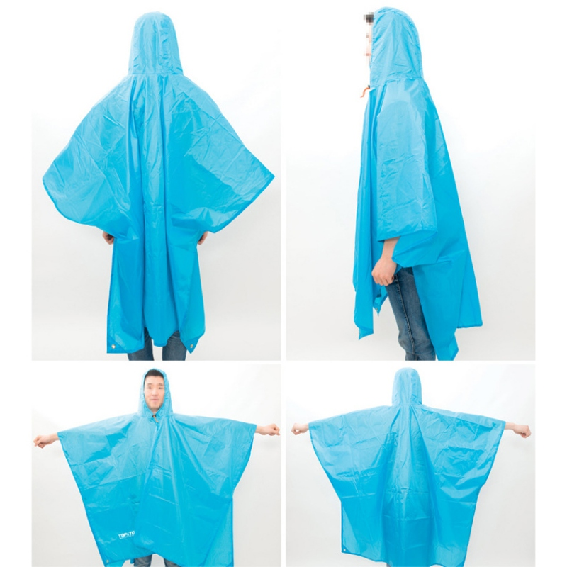 Multifunction Poncho Raincoat Folding Hiking Fishing Camping Mats Pocket Waterproof Blanket Outdoor Mat(China)