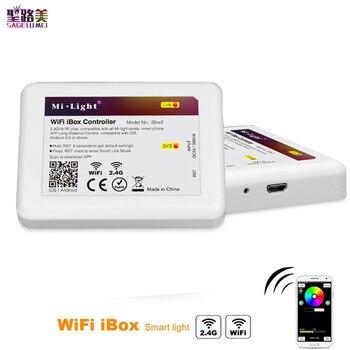 Światło Mi-Light WiFi iBox kontroler LED inteligentne światło nocne 2.4G bezprzewodowy WiFi rgb kontroler dla światło Mi-Light RGBW WW żarówka LED pasek światła