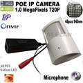 720 P poe ip cámara poe infrarrojo 940nm cámara IR POE ip PIR estilo motion detector cam onvif ir cut visión nocturna p2p plug and jugar