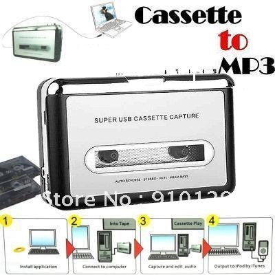 Tape Cassette to PC Mp3 Converter USB Capturer for Loved Songs