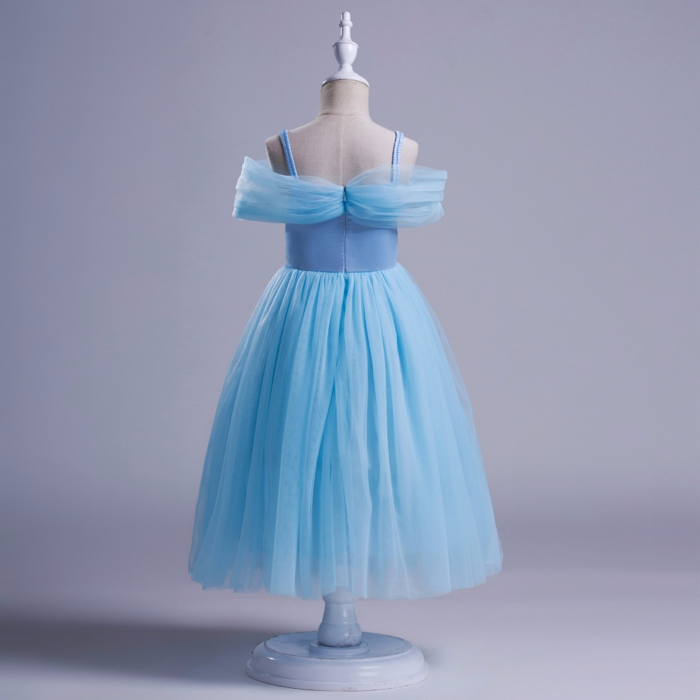 EMS DHL Free party Dress New Children beaded Elsa dress Girls Lace ...