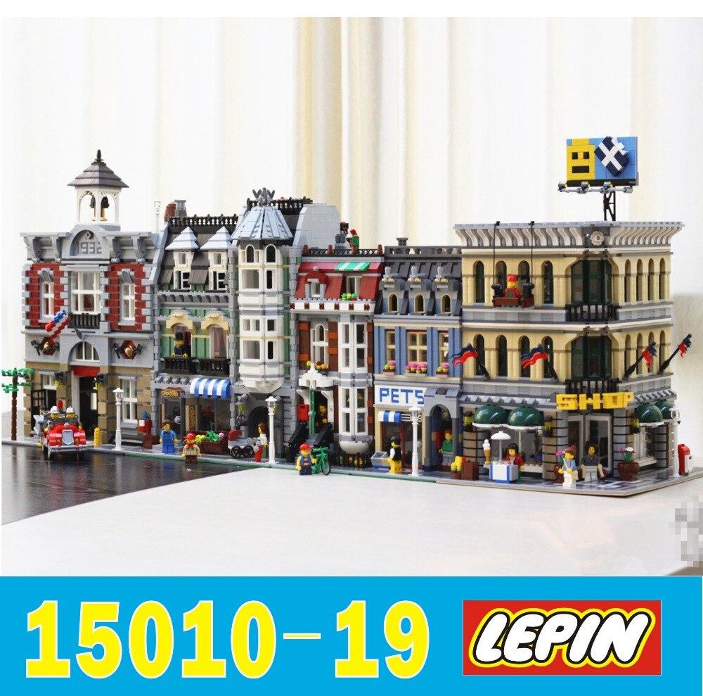Lepin Stadt Serie Streetview Mit Led Licht 15001 15003 15009 15010 Town Hall 15011 15012 15013 15015 15016 15017 15018 15019 Stadtstrae Creator Starbucks Detektiv Bro