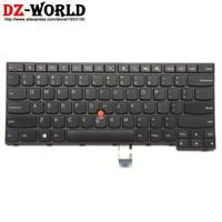 New Original US English Keyboard for Lenovo Thinkpad E450 E450C E455 E460 E465 Teclado 04X6101 04X6101 04X6141 SN20E66101