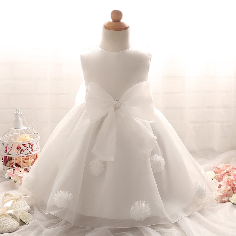1 Year Old Baby Girl Dress Vintage Princess Big Bow Girls -9503