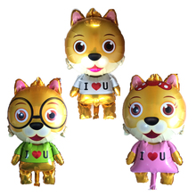 New 1pcs Cartoon I LOVE YOU Puppy Foil Balloon Birthday Party Wedding Decoration House Wall Sticker Globos MIDU