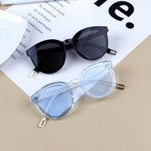 2019 olho de gato do vintage crianças óculos de sol para o bebê meninos meninas óculos de sol grande bonito cateye uv400 viagem eyewear