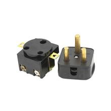 цена на 250V 25A South African 3 Pin Plug AC Electrical Power  Plug industry Motor Control Panel Male Female Socket