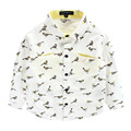 Hot Sale Boys Shirts Cotton Broadcoloth Long Sleeve Print Birds Baby Boys Shirts 2017 New Spring Childrens Shirts Clothing ht062