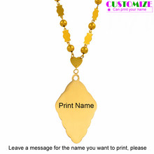 Anniyo Customize Name Necklaces Marshall Beads Islands Jewellery Micronesia Pendant Custom Printed Names #053921(China)