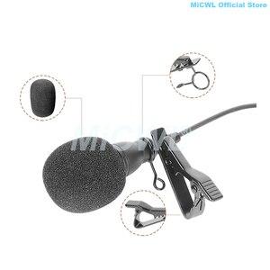 Image 4 - Preto C55 grande Microfone De Lapela Laço Clipe de Lapela Microfone para Sennheiser Shure AKG Samson Áudio Technica MiPro Cardióide Boa mics