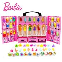 Original  6 dolls/Set Mini With Dress Clothes Birthday Series Girls Boneca brinquedos Toys For Children