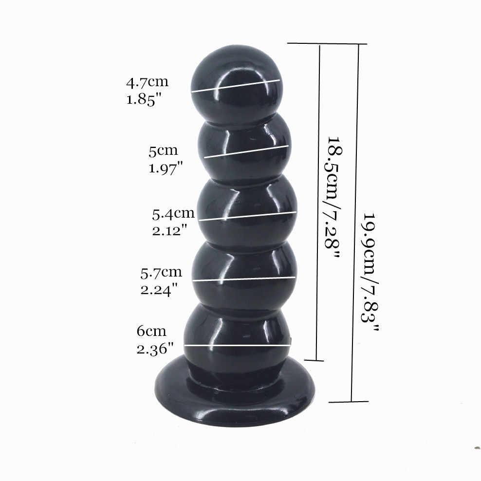 Riesige Realistische Dildo 5 Perlen Anal Plug Saugnapf Butt Plug Ball Anal Plug Sex Spielzeug Für Frauen Männer Erwachsene produkt Sex Shop Faust