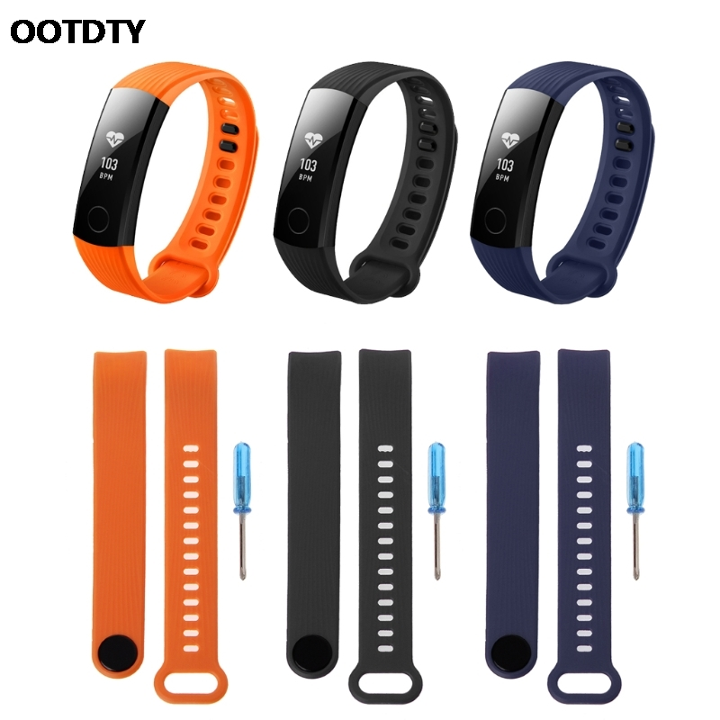 все цены на OOTDTY Smart Wrist Strap Silicone Adjustable Band For Huawei Honor 3 Bracelet Watch Replacement Accessory