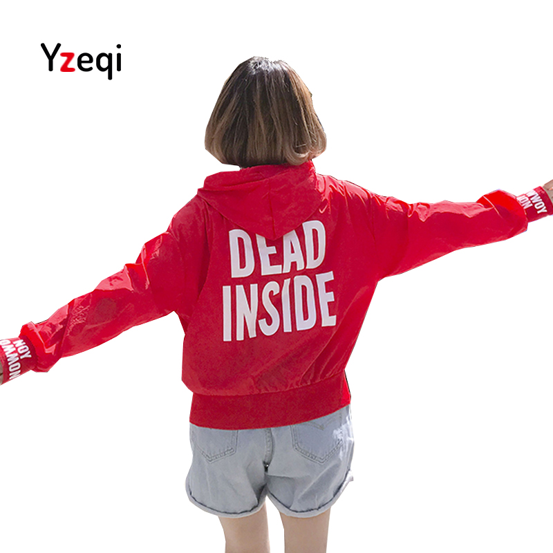 Yzeqi Jackets Women New Summer Candy Color Womens Hooded Female Jacket Fashion O-neck Thin Windbreaker Outwear Women Coat