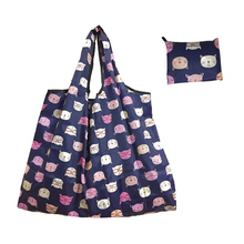 Hot Lady Foldable Recycle Shopping Bags Reusable Cartoon Owl Floral Fruit Vegetable Tote Bag High Quality Striped Shipping Bags