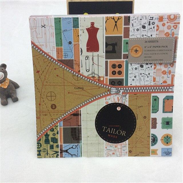 Paper Pads For Card Making Part - 17: 24 Sheets Scrapbook Paper Craft DIY Origami Art Card Making Photo Album  Scrapbooking Paper Pad