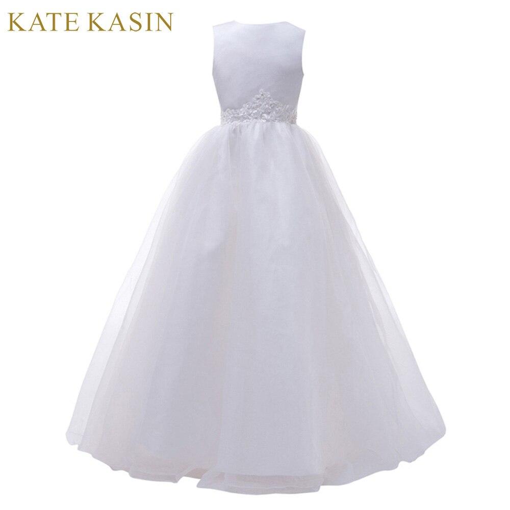 blanco largo vestidos de nia para bodas pageant baln vestido de fiesta de cumpleaos vestidos de