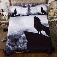 BEST.WENSD Soft 3d Wolf Wolves bedding set Luxury 3 piece set bed set duvet cover+pillow case Home Textiles no bedlinen bedding