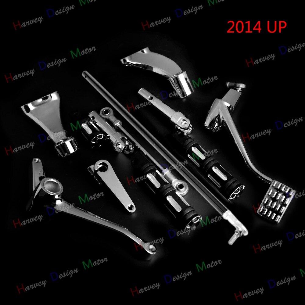Chrome Commandes Avancées Bord Coupe Chevilles Leviers Liens Pour Harley Fer 883 1200 2014-2017