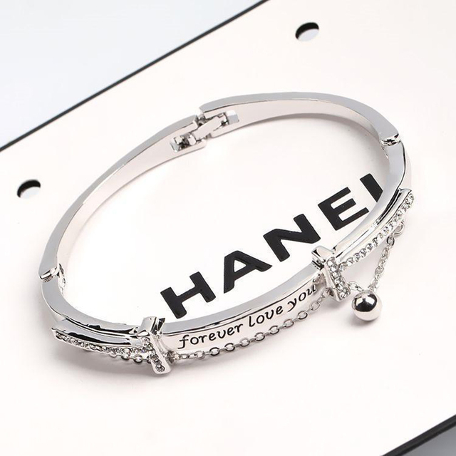CHENFAN bangles stainless steel bracelets woman jewelery forever love you bracelets bangle fashion bracelets for woman 2019