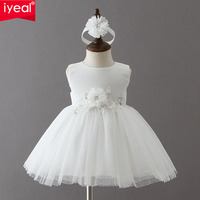 IYEAL 1 Years Birthday Toddler Girl Baptism Dress Christmas Costumes Newborn Baby Princess Vestido Kids Christening Wear Dresses