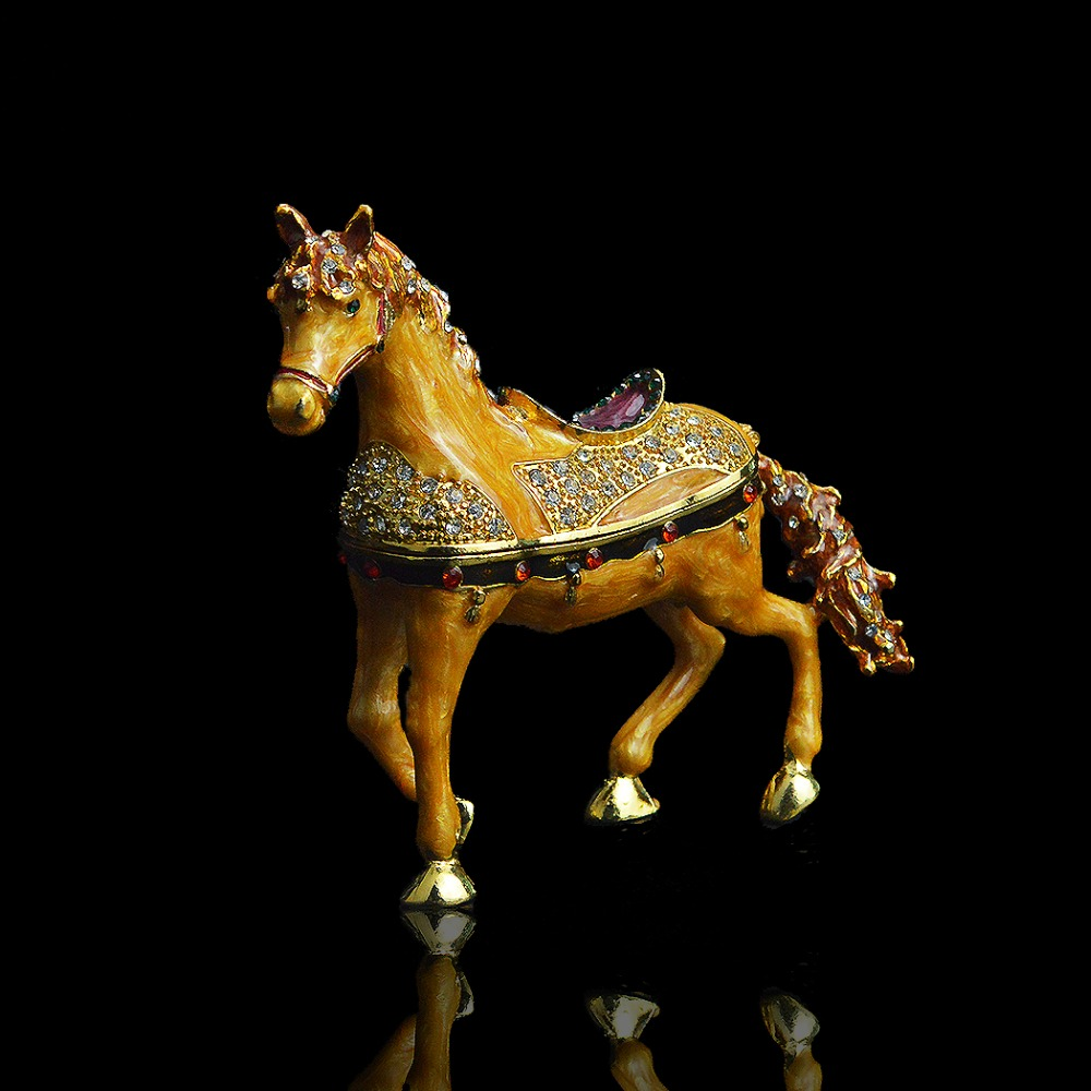 QIFU  Handicraft Mascot Horse Shape Boxes For Necklace