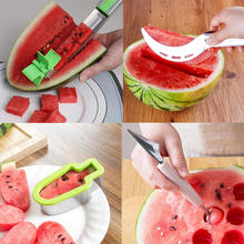 Plastic Slicer Watermelon-Cutter Modeling-Tools Fruit-Decor Cutting Stainless-Steel Multifunction