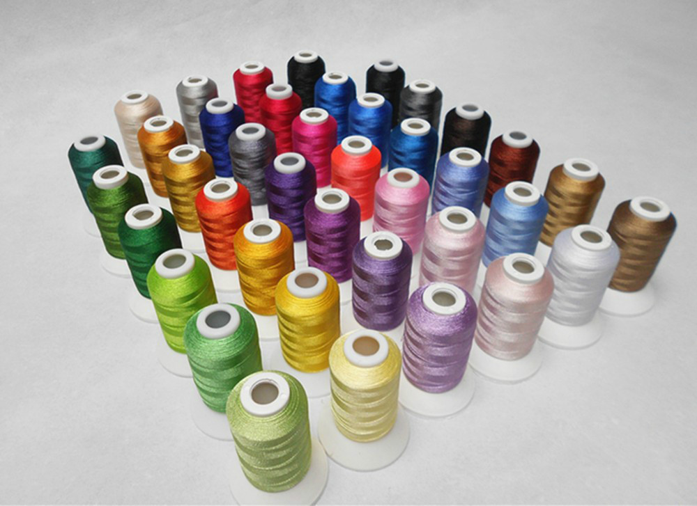 Simthread Brother Colors Series Computer Machine Embroidery Thread Filament Polyester 500m*40 Assorted Colors , Super Sheen ,Top