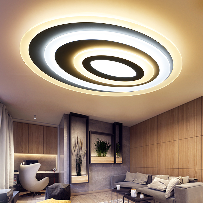 round Modern LED Chandelier Lights Lamp 24w-108w dinning room/bedroom Acrylic+Metal Dimmable Pandent Hanging Chandelier 220v