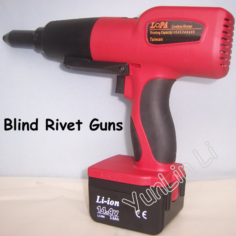 Electric Blind Rivet Guns Lithium Charging Riveting Gun DC 14.4V Riveting Gun Quick Core Riveting Gun XDL-200M